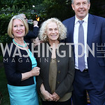 Lady Darroch, Carole King, Britain Amb. Sir Kim Darroch. Photo by Tony Powell. The Queen
