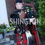 Bagpiper Ross Fraser. Photo by Tony Powell. The Queen