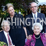 Librarian of Congress Emeritus James Billington, Dorothy and Bill McSweeny, Marjorie Billington. Photo by Tony Powell. The Queen