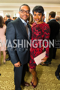 Glenn Caldwell, Kali Caldwell. Photo by Alfredo Flores. Thomson Reuters Correspondents' Brunch‏. Hay Adams Hotel. May 1, 2016