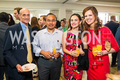 Michael Chertoff, Rob Colorina, Isabel Sepulveda, Courtney Cooper. Photo by Alfredo Flores. Thomson Reuters Correspondents' Brunch‏. Hay Adams Hotel. May 1, 2016