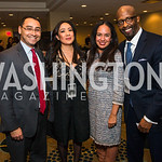Ross Romero, Samantha Eldridge, Rocio Inclan, Michael McPherson. Photo by Alfredo Flores. Tribute to Mayors Inaugural Unity Dinner. Hyatt Regency Capitol Hill. January 18, 2017