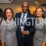Rocio Inclan, Michael McPherson, Maria Teresa Kumar. Photo by Alfredo Flores. Tribute to Mayors Inaugural Unity Dinner. Hyatt Regency Capitol Hill. January 18, 2017