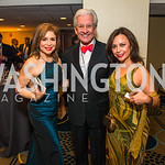 Teri Galvez, Lionel Sosa, Adryana Boyne. Photo by Alfredo Flores. Tribute to Mayors Inaugural Unity Dinner. Hyatt Regency Capitol Hill. January 18, 2017