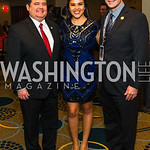 Roger Rocha Jr., Maritza Huerta, Brent Wilkes. Photo by Alfredo Flores. Tribute to Mayors Inaugural Unity Dinner. Hyatt Regency Capitol Hill. January 18, 2017 .CR2