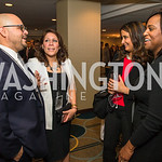 Ricardo Martinez, Norelie Garcia, Michelle Minguez, Tami Jackson Buckner. Photo by Alfredo Flores. Tribute to Mayors Inaugural Unity Dinner. Hyatt Regency Capitol Hill. January 18, 2017