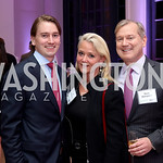 Hunter McFadden, Lyn McFadden and Mark McFadden. Photo by Tony Powell. WE Tech Launch Party. Halcyon House. November 15, 2016