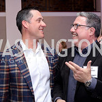 Lou Aronson, David Gorodetski. Photo by Tony Powell. WE Tech Launch Party. Halcyon House. November 15, 2016