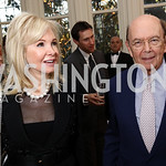 Hilary Ross and Sec. Wilbur Ross. Photo by Tony Powell. Alliance Francaise. Residence of France. April 4, 2017