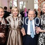 Evelyn DiBona, Francesca Craig, Leonard Silverstein, Joan Carl. Photo by Tony Powell. Alliance Francaise. Residence of France. April 4, 2017