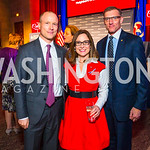 Todd Finger, Kathy Roth-Douquet, James Larivierre. Photo by Alfredo Flores. 2017 Blue Star Neighbors Celebration. U.S. Chambers of Commerce. March 22, 2017