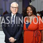David Rubenstein, Kaya Henderson. Photo by Tony Powell. 2017 DC Ed Fund 10 Year Anniversary Dinner. Renwick Gallery. October 5, 2017