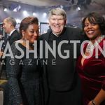 Beverly Perry, Monsignor John Enzler, Kaya Henderson. Photo by Tony Powell. 2017 Fight Night. Washington Hilton. November 2, 2017