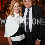 Laura Linney, Michael Kahn. Photo by Tony Powell. 2017 Harman Center Gala. Building Museum. October 15, 2017