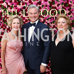 Gala Co-Chairs Molly Rolandi, Mark Lowham, and Amy Meadows. Photo by Tony Powell. 2017 Hillwood Gala. June 6, 2017
