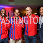 Ken Harvey, John Booty, Brandon Frye, Andre Collins. Photo by Tony Powell. 2017 Hope for Henry. Pinstripes. October 3, 2017