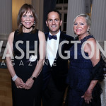 Barbara Harrison, Richard Marks, Deborah Sigmund. Photo by Tony Powell. 2017 Innocents at Risk Gala. OAS. April 26, 2017