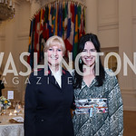 Leisa Hall, Nora Maccoby. Photo by Tony Powell. 2017 Innocents at Risk Gala. OAS. April 26, 2017