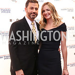 Jimmy Kimmel and Molly McNearney. Photo by Tony Powell. 2017 Mark Twain Prize. Kennedy Center. October 22, 2017