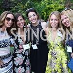 Jen Graham, Jo Edwards, Elizabeth Sutphin, Jessica McMichael, Christina Cain. Photo by Tony Powell. McLean Project for the Arts. Bullock Residence. May 18, 2017