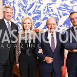Pete Selleck, Hilary Ross and Sec. Wilbur Ross, France Amb. Gerard Araud. Photo by Tony Powell. 2017 Michelin Guide. Residence of France. October 17, 2017