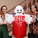 Kate Goodall, The Michelin Man, Tammy Haddad. Photo by Tony Powell. 2017 Michelin Guide. Residence of France. October 17, 2017