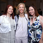 Elizabeth Bernstein, Stuart Allen, Sarah Flack Lopez. Photo by Tony Powell. 2017 N Street Village Luncheon. June 15, 2017