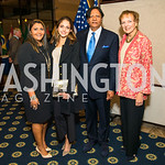 Sheeza Mahmood, Shunna Mahmood, Ray Mahmood, Mary Jo Myers.  Photo by Alfredo Flores.  2017 National Dialogue Awards. National Press Club. November 16, 2017.