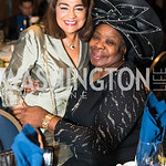 Sheila Switzer, Gloria Herndon. Photo by Alfredo Flores.  2017 National Dialogue Awards. National Press Club. November 16, 2017.