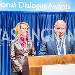 Gabrielle Giffords, Mark Kelly, . Photo by Alfredo Flores.  2017 National Dialogue Awards. National Press Club. November 16, 2017.