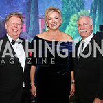 Tom Koutsoumpas, Malene Davis, Dr. Perry Fine. Photo by Tony Powell. 2017 Capital Caring Gala. MGM National Harbor. November 11, 2017