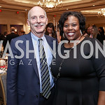 Councilmember Phil Mendelson, Former Chancellor of DC Public Schools Kaya Henderson. Photo by Tony Powell. 2017 Teach for America Gala. Ritz Carlton. February 21, 2017