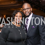 Former Chancellor of DC Public Schools Kaya Henderson, Current Chancellor of DC Public Schools Antwan Wilson. Photo by Tony Powell. 2017 Teach for America Gala. Ritz Carlton. February 21, 20 ...