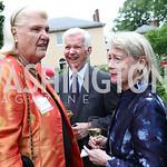 Ingola Hodges, Harry and Cathy Teter. Photo by Tony Powell. 2017 Tudor Place Garden Party. May 24, 2017