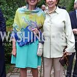 Marjie Calvert, June Libin. Photo by Tony Powell. 2017 Tudor Place Garden Party. May 24, 2017
