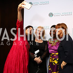 Elsa D'Silva, Rachel O'Neill, Leadership in Public Life Award Honoree Malawi Chief Theresa Kachindamoto, Susan Davis. Photo by Tony Powell. Vital Voices 2017 Global Leadership Awards. Kenned ...
