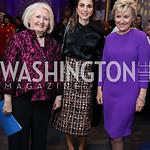 Melanne Verveer, Global Trailblazer Award Honoree Her Majesty Queen Rania Al Abdullah of Jordan, Tina Brown. Photo by Tony Powell. Vital Voices 2017 Global Leadership Awards. Kennedy Center. ...