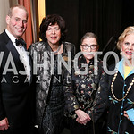 WNO Executive Director Michael Mael, Artistic Director Francesca Zambello, Justice Ruth Bader Ginsburg, Jacqueline Badger Mars. Photo by Tony Powell. 2017 WNO Season Opener. Kennedy Center.  ...