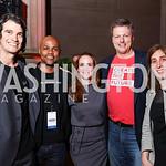 WeWork CEO Adam Neumann, Judges Nasir Qadree, Kate Goodall, Jeff Reid, Jen Berrent. Photo by Tony Powell. 2017 WeWork Creator Awards. Mellon Auditorium. March 28, 2017