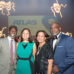 Anwar Saleem, Angie Gates, Lauren Vaughan, Horace Fauntleroy, Atlas Performing Arts Center, Destination Atlas Party for a Purpose Gala, October 6, 2017. Photo by Ben Droz.
