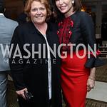 Sen. Heidi Heitkamp, Nancy Brinker. Photo by Tony Powell. Buffy Cafritz Inauguration Party. Hay Adams. October 25, 2017