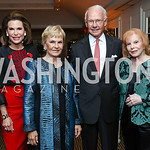 Nancy Brinker, Vicki and Roger Sant, Buffy Cafritz. Photo by Tony Powell. Buffy Cafritz Inauguration Party. Hay Adams. October 25, 2017