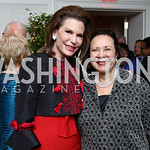 Nancy Brinker, Alma Powell. Photo by Tony Powell. Buffy Cafritz Inauguration Party. Hay Adams. October 25, 2017