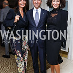 Micaela Varricchio and Italy Amb. Armando Varricchio, Barbara Maccaferri. Photo by Tony Powell. Buffy Cafritz Inauguration Party. Hay Adams. October 25, 2017