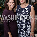 "Jacquie Bloom, Tammy Haddad. Photo by Tony Powell. ""Sisters First"" Book Party. Jefferson Hotel. October 26, 2017"