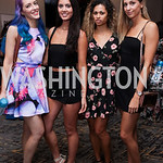 Kristen Walters, Courtney Cameron, Amanda Rudnik, Rosannah Petit. Photo by Tony Powell. DC Swim Week 2017 Launch Party. St. Gregory. July 27, 2017