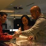 Matt Sember, Diana & Patrick Min. December 5, 2017. Holiday Shopping Experience at Fairfax Square.  Amanda Warden.