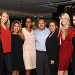 Diana Villarreal, Caitlin Carlton, Nena Patrone, Monique Miles, Son Hong, Karen Sanjines, Carolyn Delaney, Fari Parm.  December 5, 2017. Holiday Shopping Experience at Fairfax Square.  Amand ...