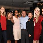 Diana Villarreal, Caitlin Carlton, Nena Patrone, Monique Miles, Son Hong, Karen Sanjines, Carolyn Delaney, Fari Parm.  December 5, 2017. Holiday Shopping Experience at Fairfax Square.  Amand ...