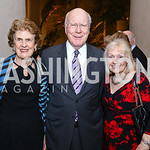 Dorothy Woodcock, Sen. Patrick Leahy and Marcelle Leahy. Photo by Tony Powell. National Gallery Della Robbia Opening. February 1, 2017
